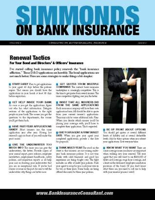 Bank Insurance Newsletter